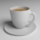 Espresso Cup and Saucer - 3DOcean Item for Sale