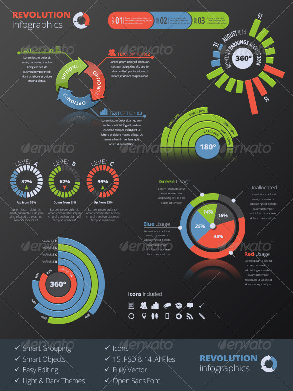 GraphicRiver Revolution Infographics 8505445