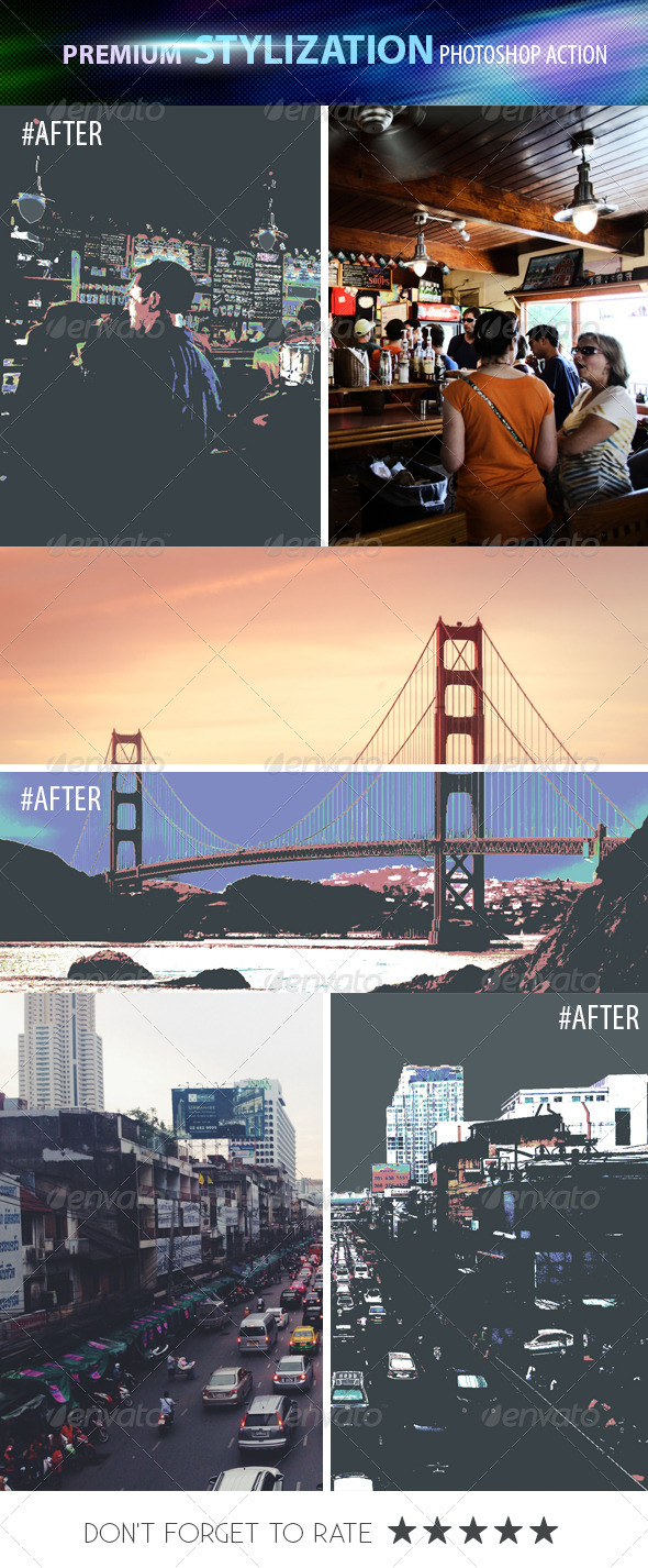 GraphicRiver Premium Stylization Photoshop Action 8431306