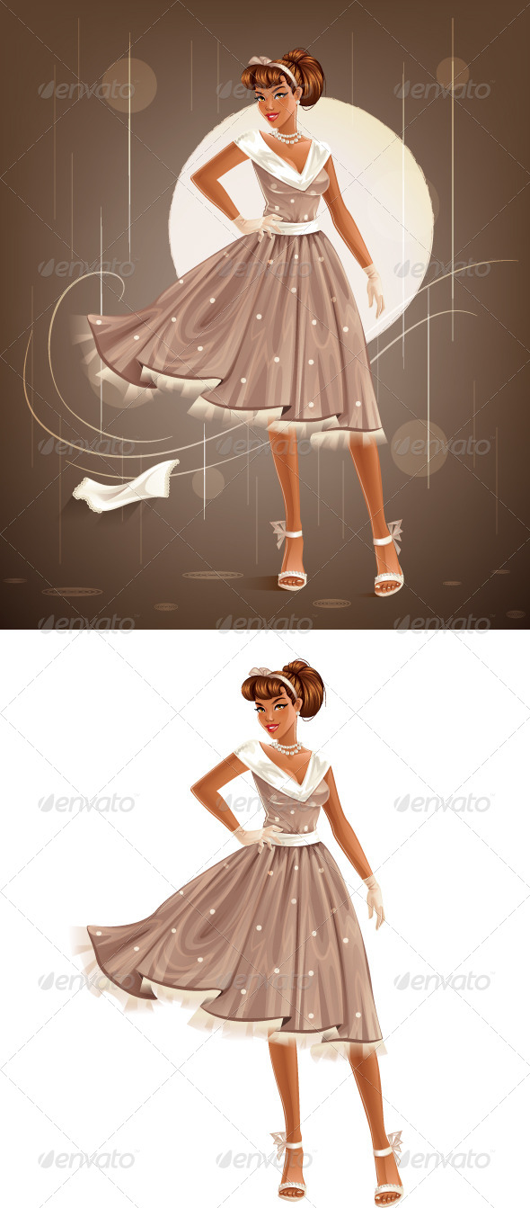 GraphicRiver Retro Dress 8505468