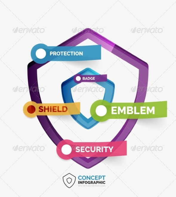 GraphicRiver Vector Shield Icon Infographic Concept 8505474