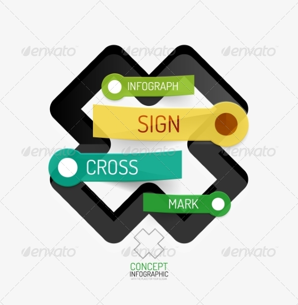 GraphicRiver Vector Cross Shape Infographic Concept 8505483