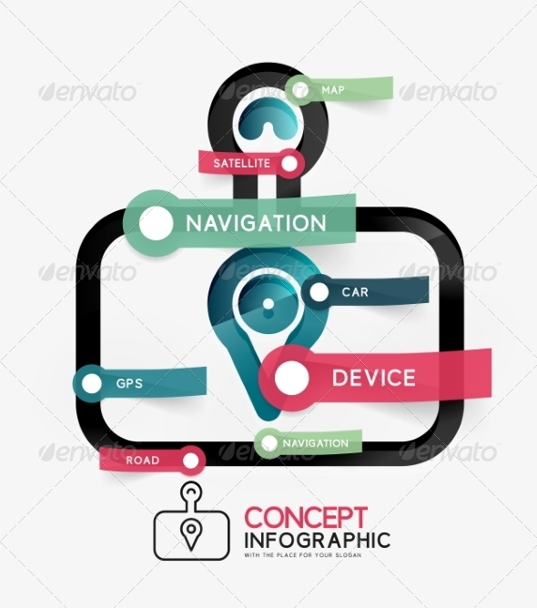 GraphicRiver GPS Navigator Onfographic Concept 8505488