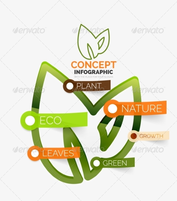 GraphicRiver Eco Leaves Infographic Concept 8505489