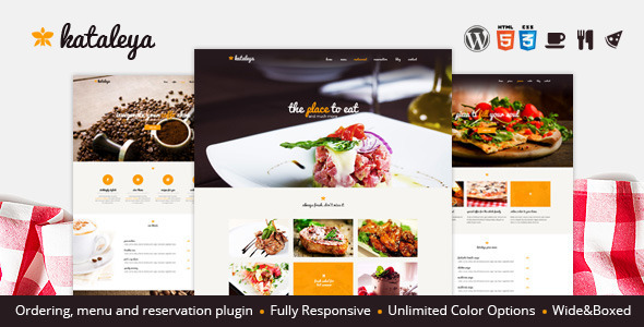 Kataleya - Restaurant Pizza Coffee Wordpress Theme - Restaurants & Cafes Entertainment