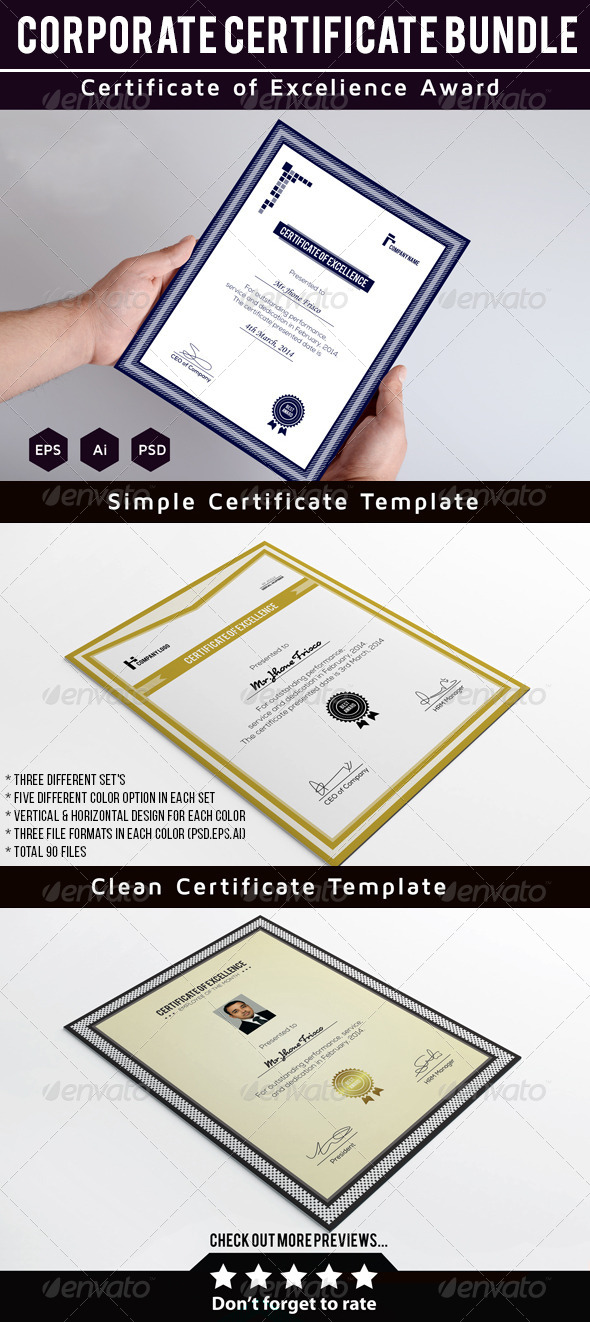 GraphicRiver Certificate Bundle 8505525
