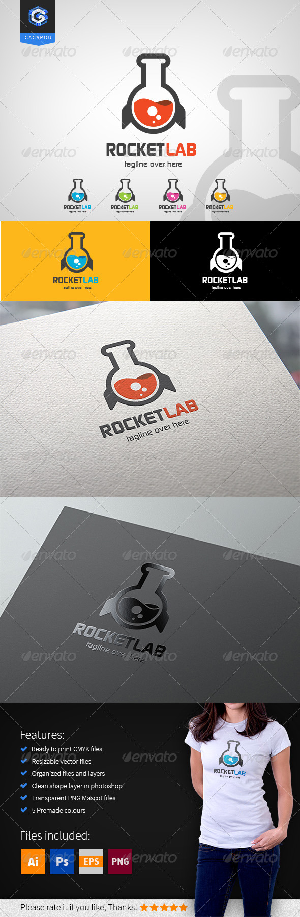 GraphicRiver Rocket Lab logo 8505685