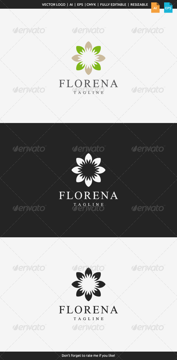 GraphicRiver Florena Flower Logo 8505688
