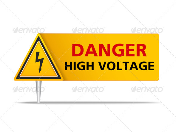 GraphicRiver High Voltage Sign 8505691