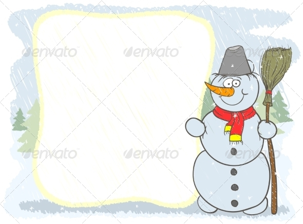 GraphicRiver Snowman Card 8505911