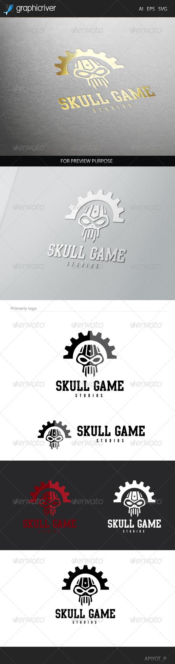 GraphicRiver Skull Game Logo 8505926