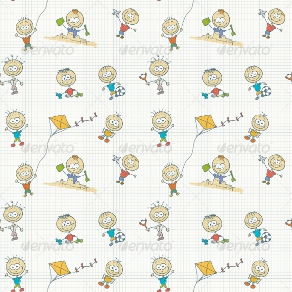GraphicRiver Children Play Seamless Wallpaper 8505931