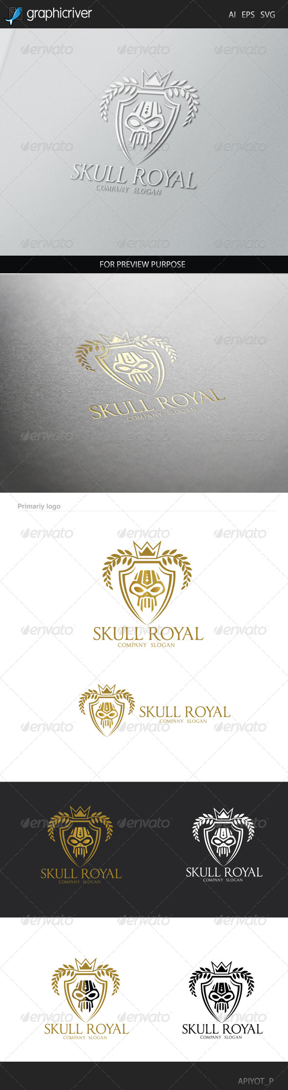 GraphicRiver Skull Royal Logo 8505943