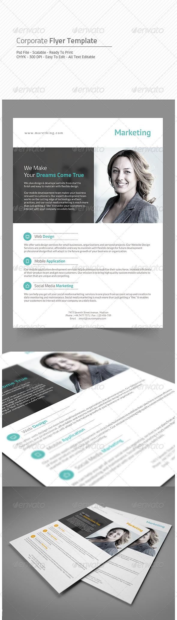 GraphicRiver Corporate Flyer 8436716