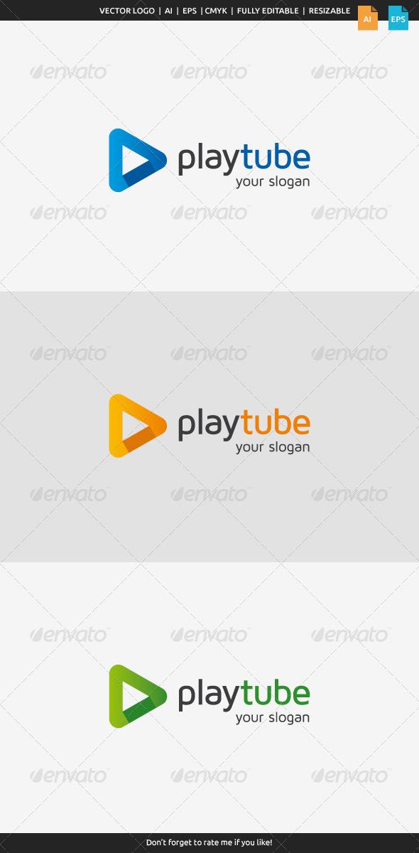 GraphicRiver Play Tube Logo 8506145