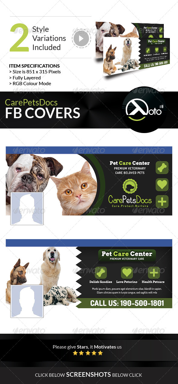 GraphicRiver Care Pets Docs FB Banners 8506695