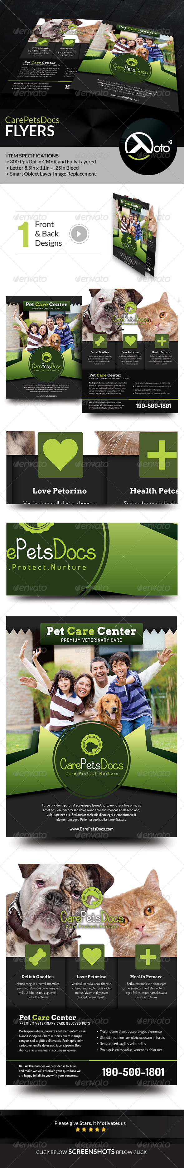 GraphicRiver Care Pets Docs Veterinary Flyers 8506700