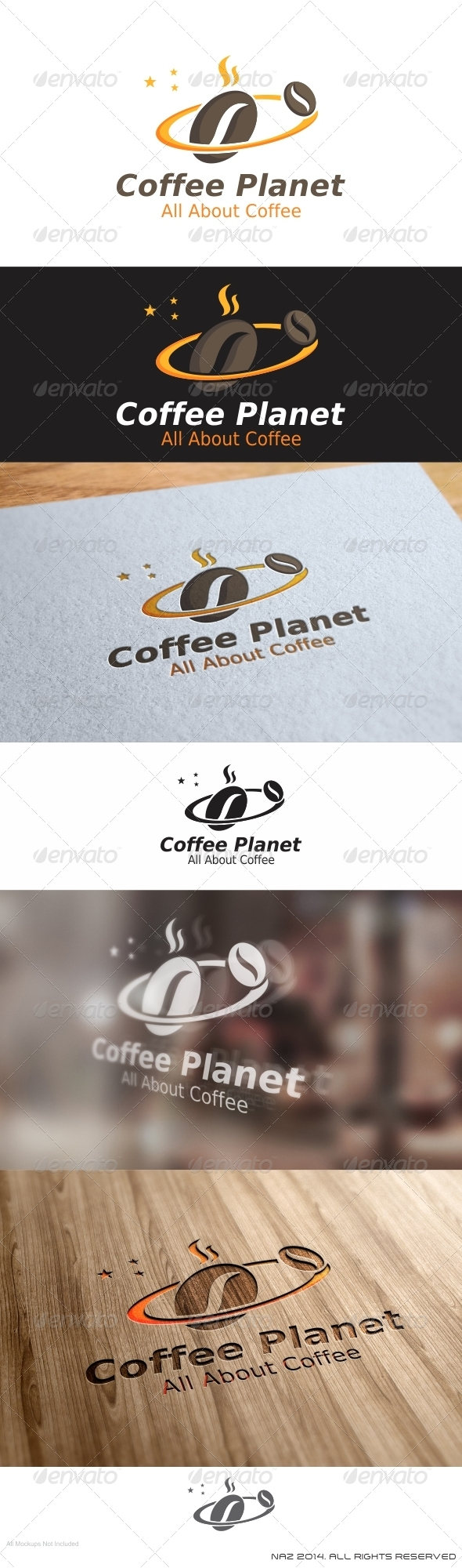 GraphicRiver Coffee Planet Logo 8507701