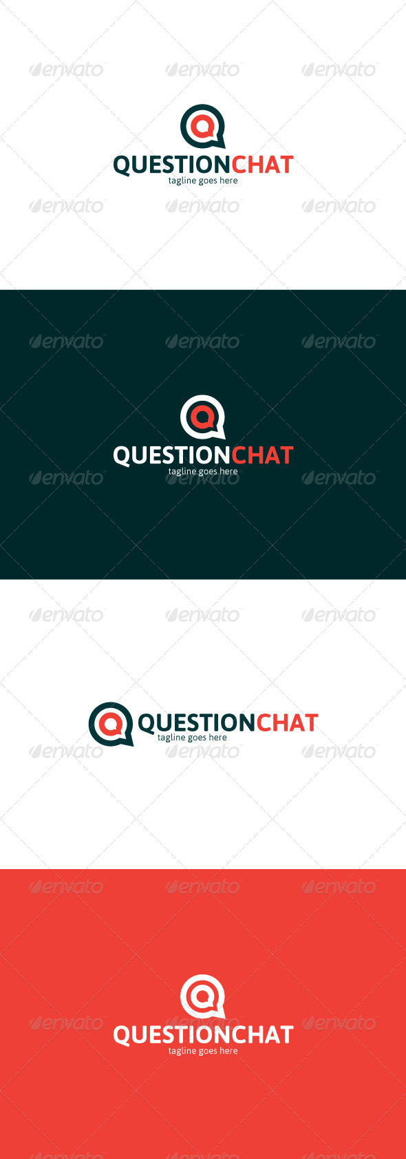 GraphicRiver Question Chat Logo Letter Q 8473910
