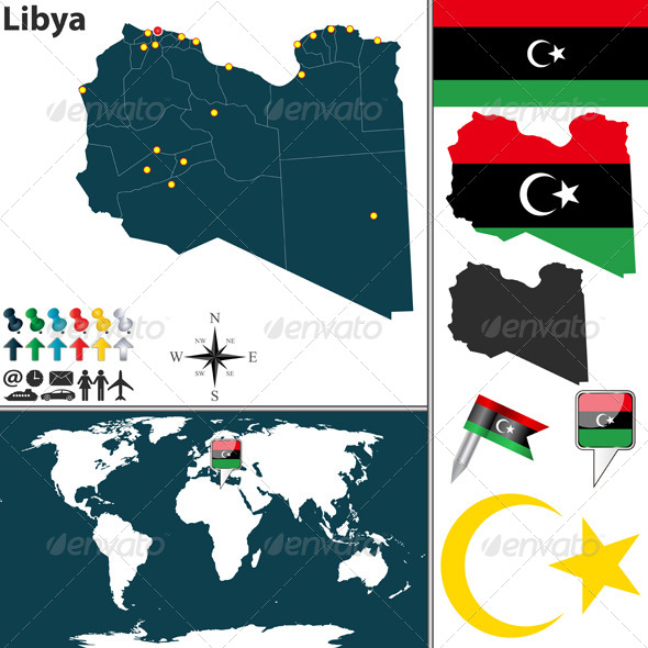 GraphicRiver Map of Libya 8508191