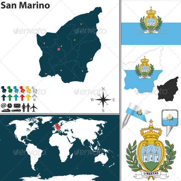 GraphicRiver Map of San Marino 8508240