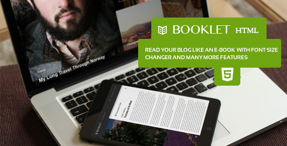 ThemeForest Booklet Personal Blogging Html Theme 8508493