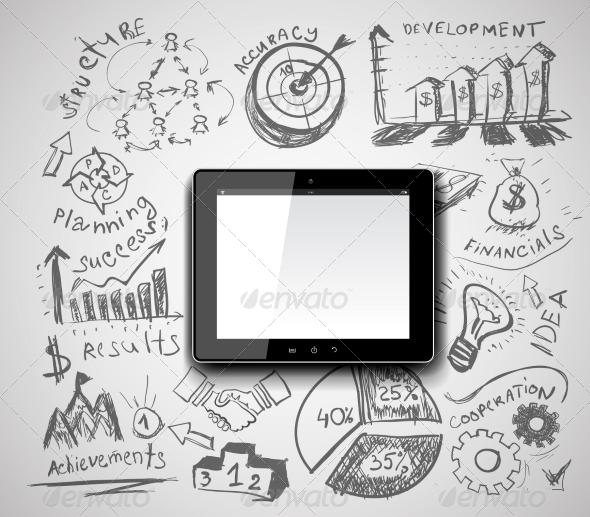 GraphicRiver Creativity Tablet PC Idea 8508625