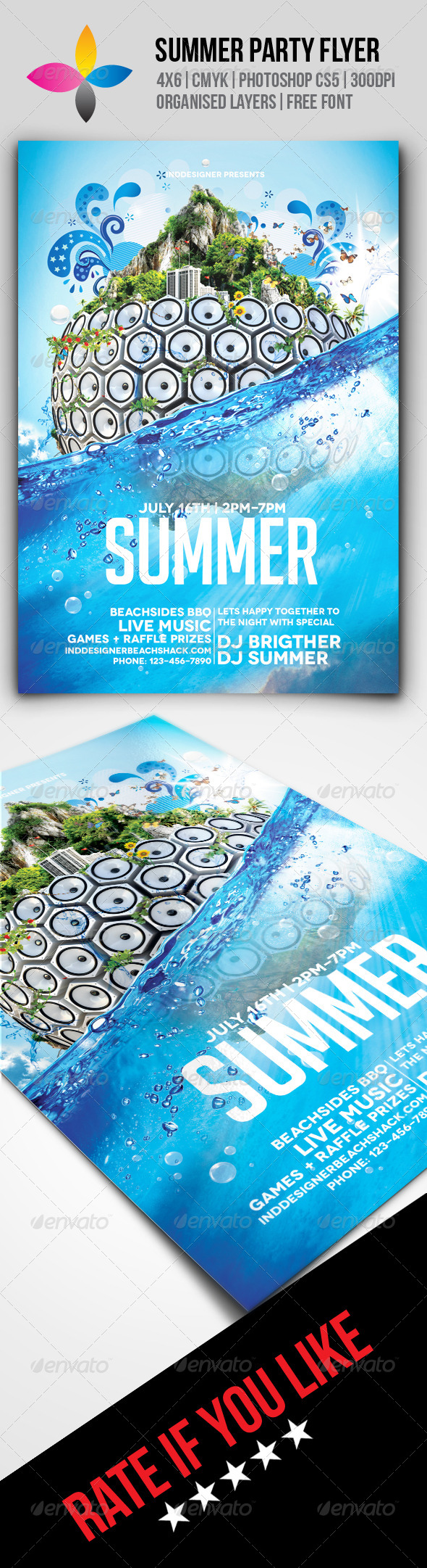 GraphicRiver Summer Party Flyer 8508868