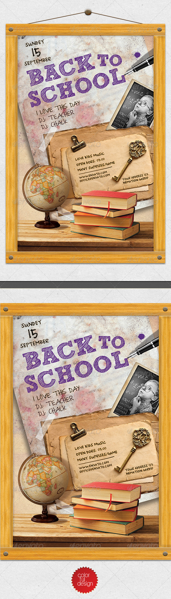 GraphicRiver Back To School Flyer Template 8509279