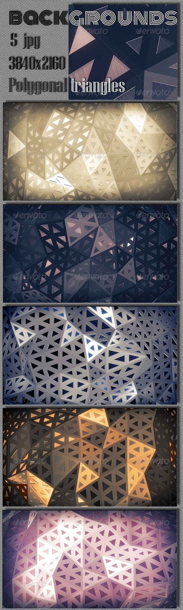 GraphicRiver Triangular Polygons Construction 8509412