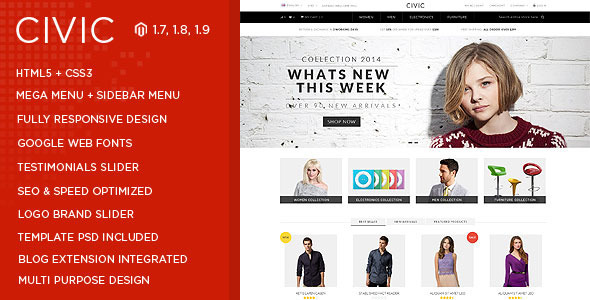 Civic - SUPER Flexible Responsive Magento Theme Download