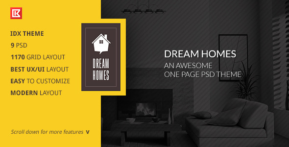 ThemeForest Dream Home-An Awesome IDX Psd Theme 8509751
