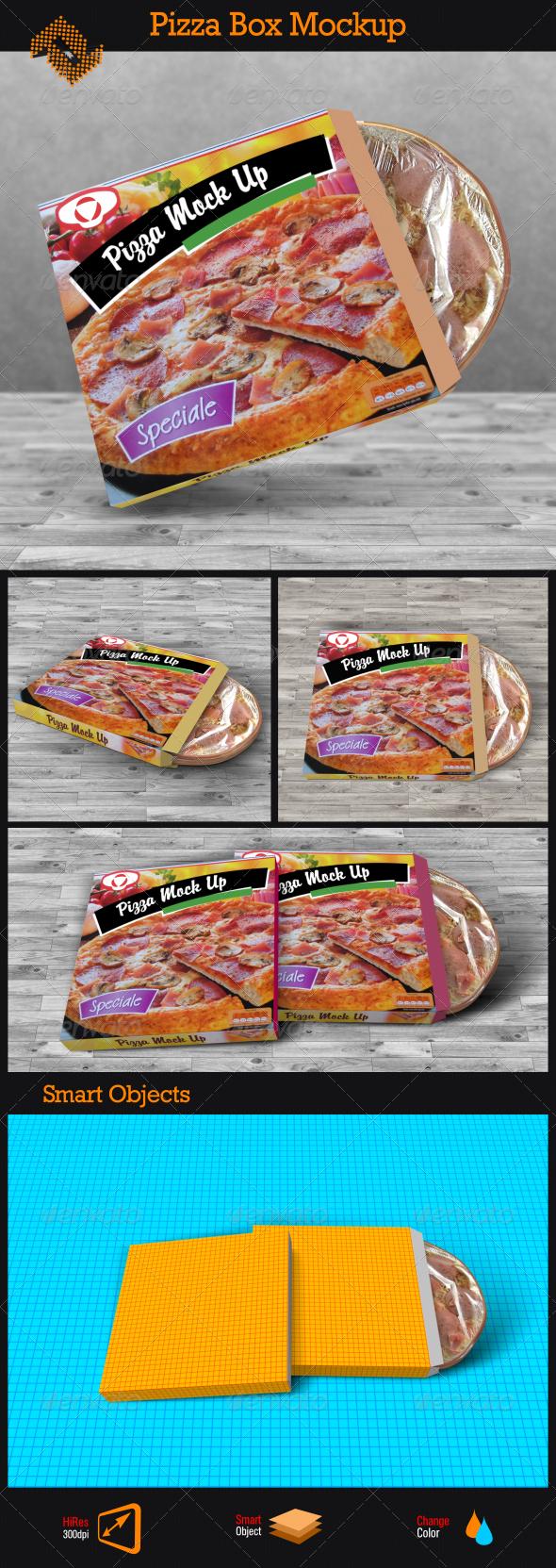 GraphicRiver Pizza Box Mockup 8509768