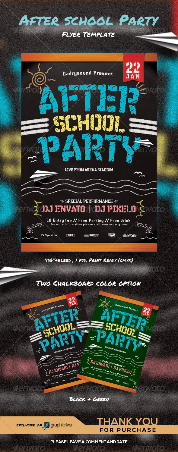 GraphicRiver After School Party 8504934