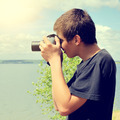 Teenager with Photo Camera - PhotoDune Item for Sale