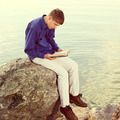 Teenager with a Book outdoor - PhotoDune Item for Sale