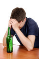 Sad Teenager in Alcohol Addiction - PhotoDune Item for Sale