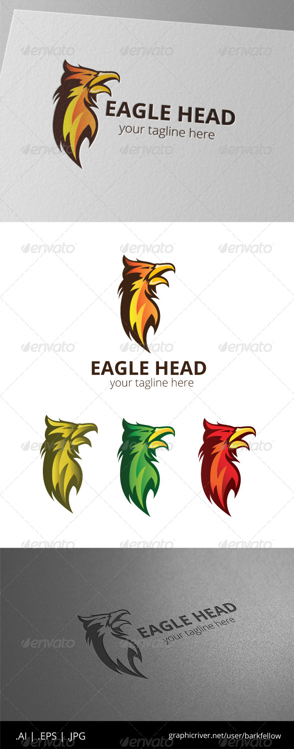 GraphicRiver Eagle Fire Head Logo 8509957