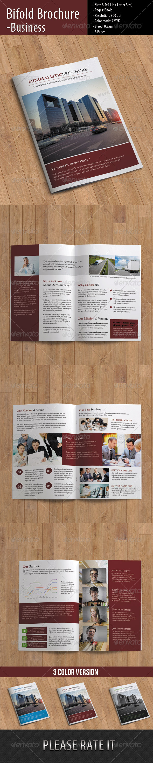 GraphicRiver Clean Business Brochure 8510266