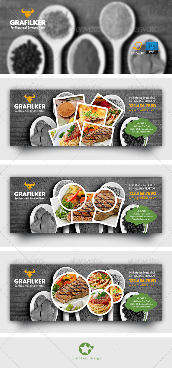 GraphicRiver Restaurant Timeline Templates 8510273