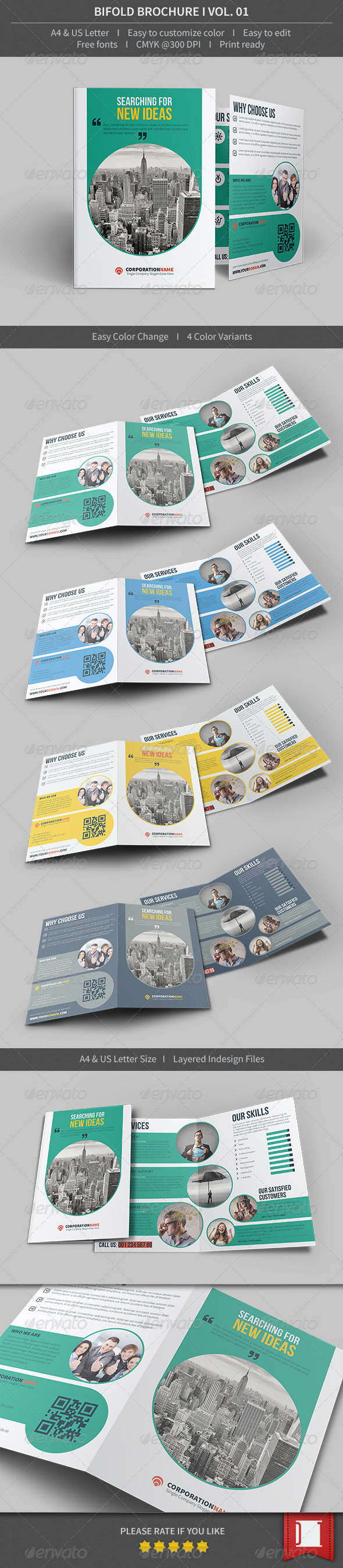 GraphicRiver Bifold Brochure Volume 01 8510352