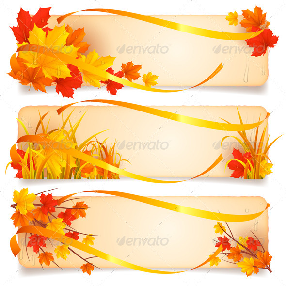 GraphicRiver Autumn Banners 8510455