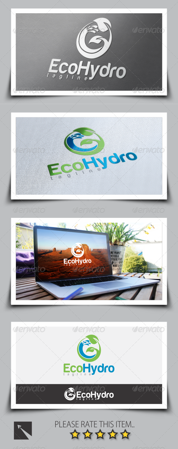 GraphicRiver Hydro Eco Logo Template 8510459