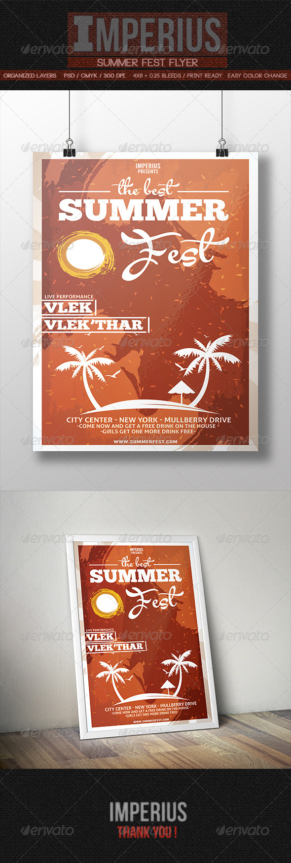 GraphicRiver Summer Fest Flyer 8510587