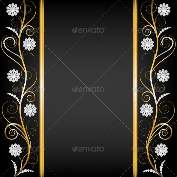 GraphicRiver Border with Pearls 8510825