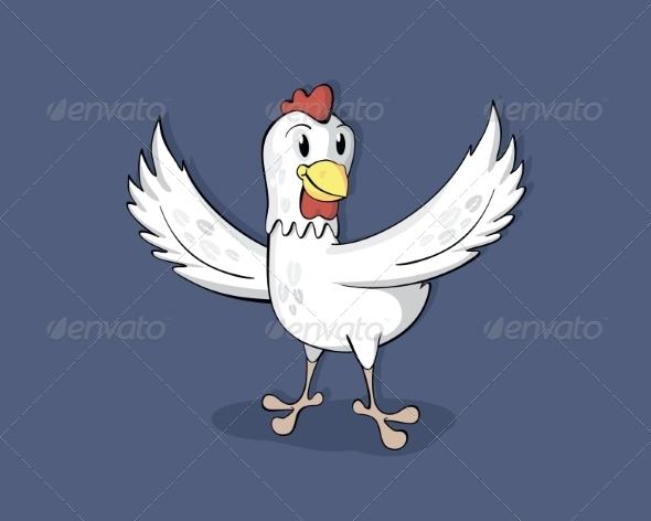 GraphicRiver Happy Cartoon Chicken 8510876