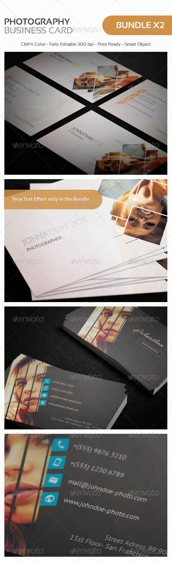 Photography Personal Business Card Bundle