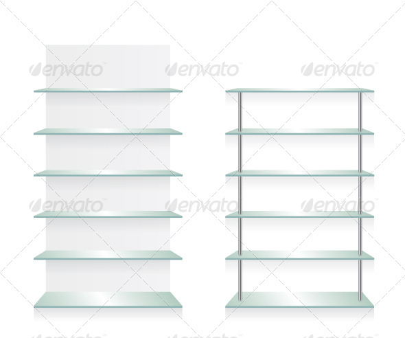 GraphicRiver Empty Shop Glass Shelves 8510942