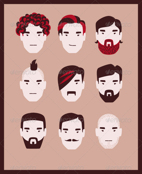 GraphicRiver Mens Hairstyles 8510980