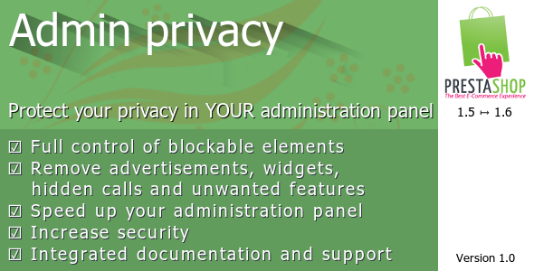 CodeCanyon Admin privacy for Prestashop 8511065